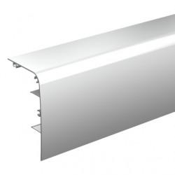 Bandeau aluminium anodisé un peu arrondie à clipser sur le rail