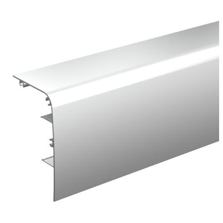 Bandeau aluminium arrondie anodisé à clipser sur le rail 11108