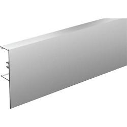 Bandeau aluminium droit anodisé à clipser sur rail